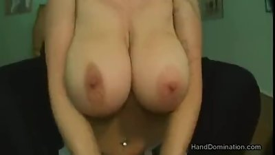 Amazing smoking handjob and boobjob by..