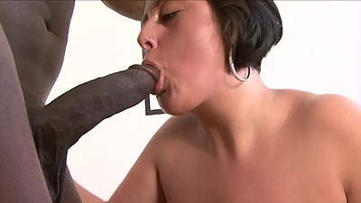 Curvy MILF gets big black dick