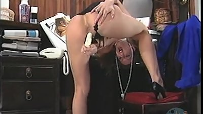 secretary caught masturbating on her..