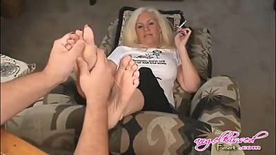 Massage and Tickled sexy mature soles