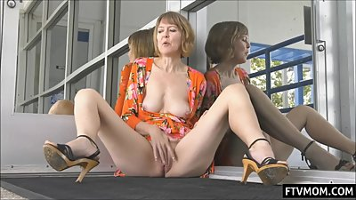 hot mature mom in public