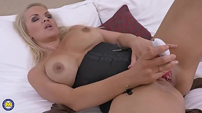 Hot and naughty British mom fooling..