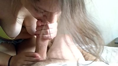Sloppy, wet and warm blowjob