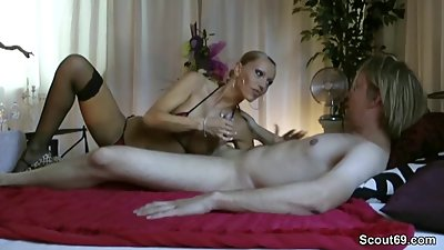 German Step-Mom teach Son to Fuck and..