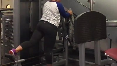 Leggings milf gym workout