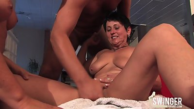 Threesome at home