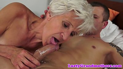 Alluring granny pounded in missionary..