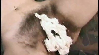 Very Hairy Mature provokes to cumshot