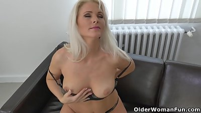 Euro milf Kathy Anderson needs to rub..