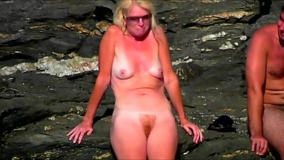 Spy Beach Mature busty Milfs and saggy..
