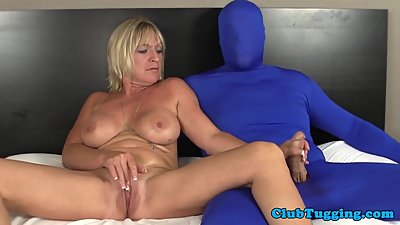 Bigtitted milf tugging gimps throbbing..