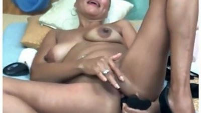 Check My MILF Asian mature huge dildo..