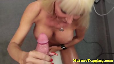 Bigtitted mature Kasey Storm jerking pov