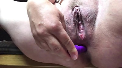 Working my ass with a dildo