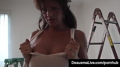 Gorgeous Wife Deauxma Takes It In All..